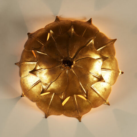Gold Leaf Wall Light 20210427 0099 V1
