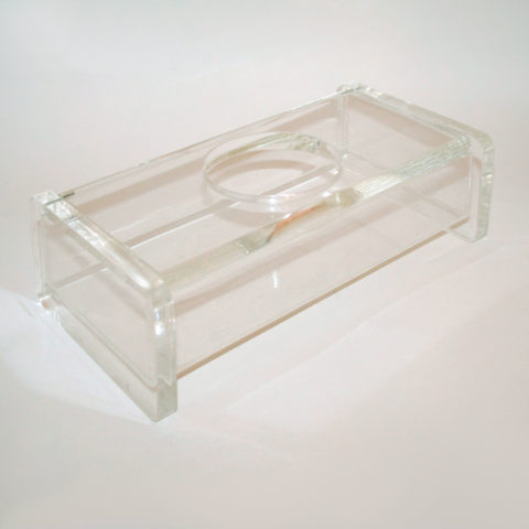 Lucite Tissue Holder Circular Opening 01