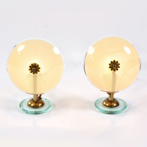 Pair 1940S Flower Lamps 01