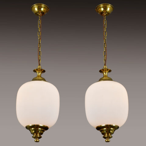 Pair 1950S Italian Brass Pendants 01