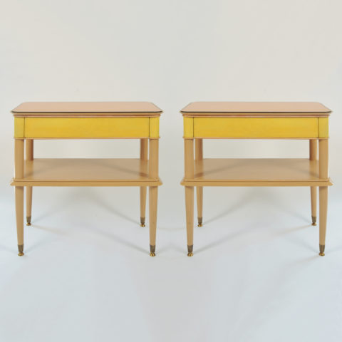 Pair Italian Painted Bedsides 01