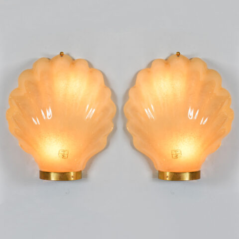 Pair Italian Shell Wall Lights 01