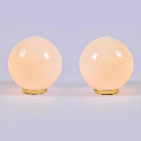 Pair Murano Ball Lamps 01