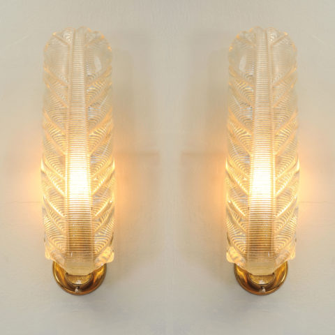 Pair Murano Leaf Lights 01