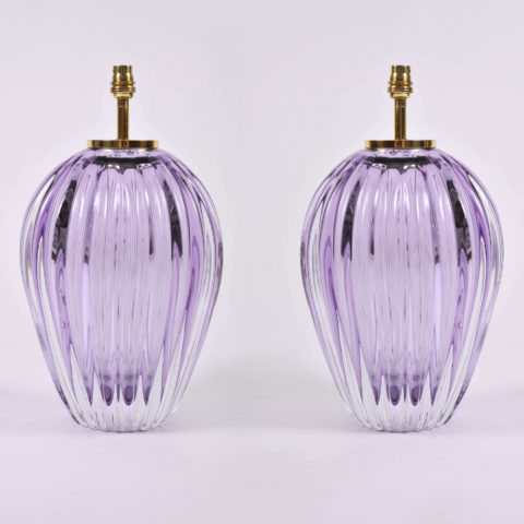 Pair Purple Vase Lamps 02
