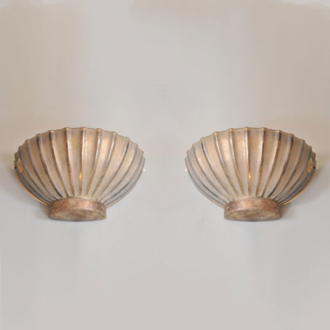 Pair Seguso Scallop Lights 01 Vw