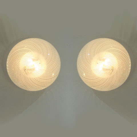 Pair Swirl Circular Wall Lights 01