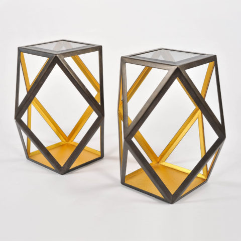Pair Of Geometric Side Tables 01