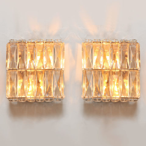 Pair Of Jewelled Wall Lights 01