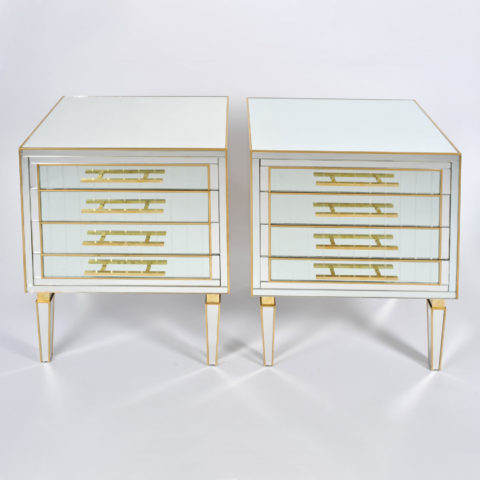Pair Of Mirrored Chests 01 Vw