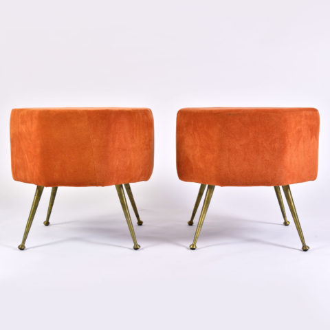 Pair Of Orange Stools 01