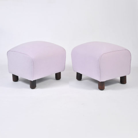 Pair Of Wood Stools In Lilac 01