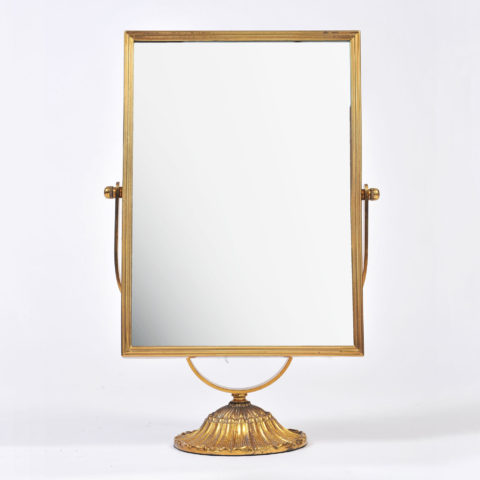 Rectangular Brass Table Mirror 01