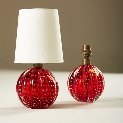 Red Murano Ball Lamp 20210225 Valerie Wade 3 064 V1