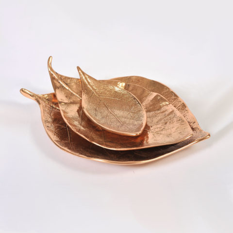 Set Of 3 Leaf Bowls 01
