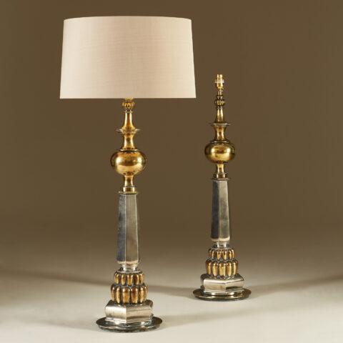 Tall Us Brass And Chrome 1950S Lights 20210427 0061 V1