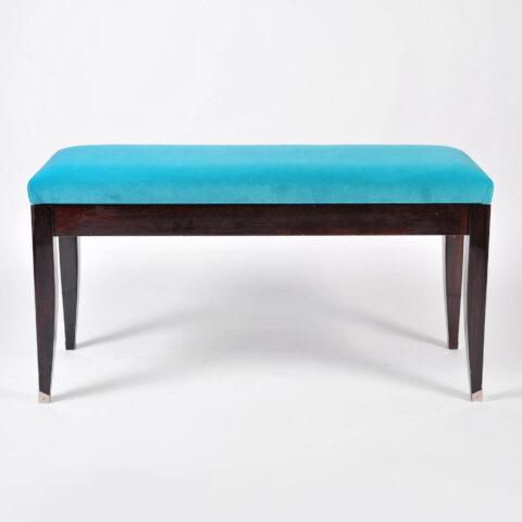 Turquoise Velvet Stool 01