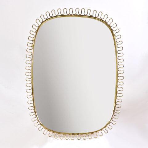 Twirl Brass Wall Mirror 01
