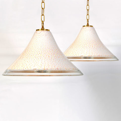 Two Hanging Glass Lights 01