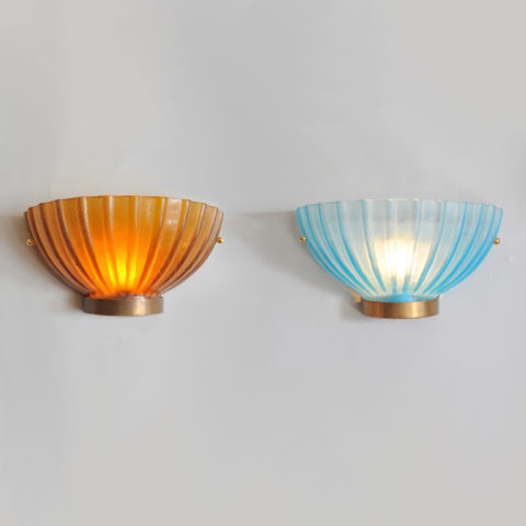 Two Seguso Scallop Lights 01 Vw
