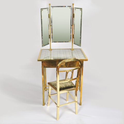 Valerie Wade Brass Dressing Table And Stool 01