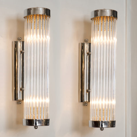 Valerie Wade Chrome Venini Arm Wall Lights –1