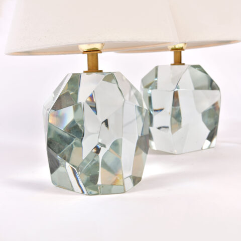 Pair Clear Rock Lamps 03
