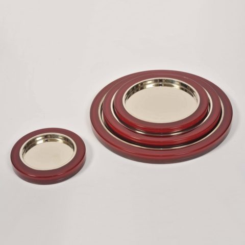 Set Us Red Mirror Trays I