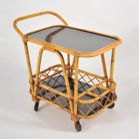 Valerie Wade Ams653 1950S French Bamboo Drinks Trolley 01