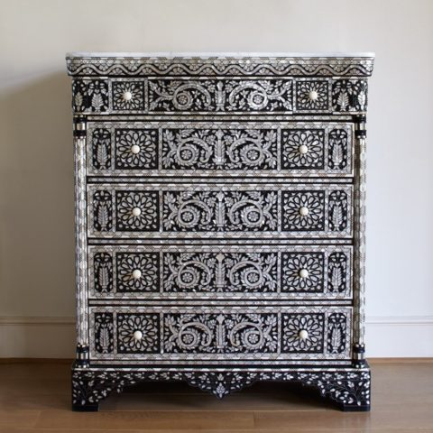 Valerie Wade Fc392 Mother Of Pearl Chest Five Drawers 01