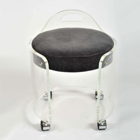 Valerie Wade Fs581 1950S Us Lucite Circular Stool 04
