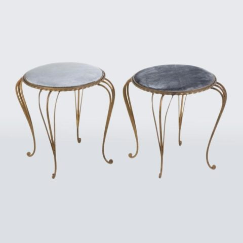 Valerie Wade Fs595 Pair Gilded Iron Stools 01