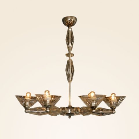 Valerie Wade Lc083 1950S Italian Six Arm Glass Chandelier 01