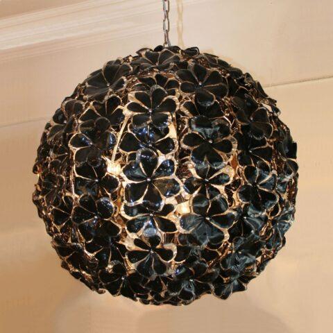 Valerie Wade Lc397 Black Murano Globe Chandelier 01