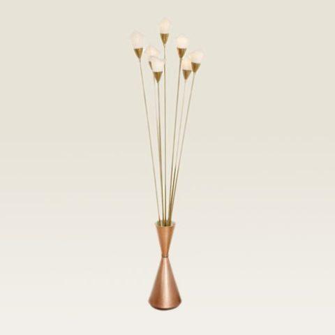 Valerie Wade Lf112 1950S Italian Lillies Standard Lamp 01