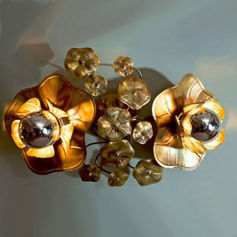 Valerie Wade Lw090 Double Lotus Flower Wall Light 01