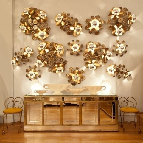 Valerie Wade Lw091 Single Lotus Flower Wall Light 02