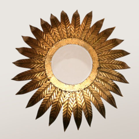 Valerie Wade Lw097 1980S Italian Sunburst Mirror Light 01