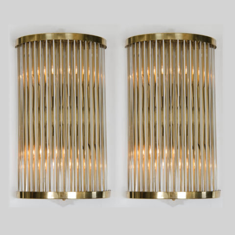 Valerie Wade Lw369 Pair Deco Murano Wall Lights 02