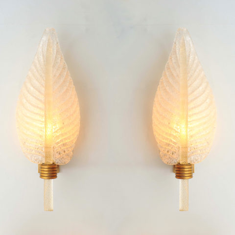 Valerie Wade Lw608 Pair 1950S Italian Leaf Wall Lights 01