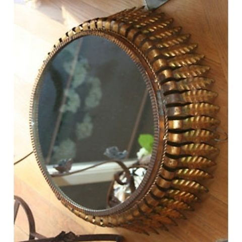 Valerie Wade Mw130 1950S French Gilded Leaf Mirror 01
