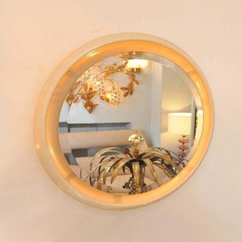 Valerie Wade Mw620 Italian 1970S Circular Back Lit Wall Mirror 01