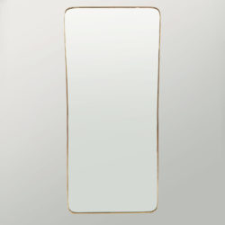 The image for 1950 Shaped Brass Mirror 01