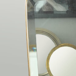 The image for 1950 Shaped Brass Mirror 02