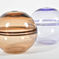The image for 1950S Purple Bronze Globe Vases 03