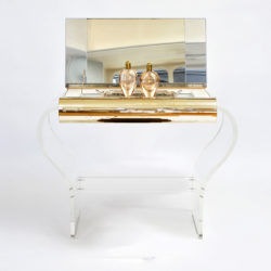 The image for 1950S American Lucite Dressing Table Gold Front 01