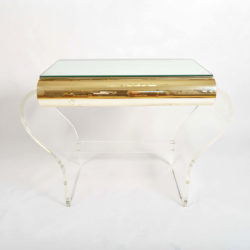 The image for 1950S American Lucite Dressing Table Gold Front 04