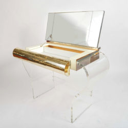 The image for 1950S American Lucite Dressing Table Gold Front 05