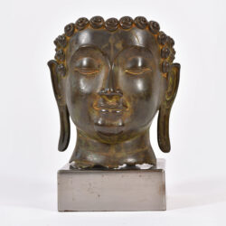The image for 20th Century Bronze Buddha Head 01
