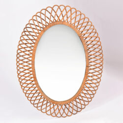 The image for Albini Wicker Oval Mirror 01